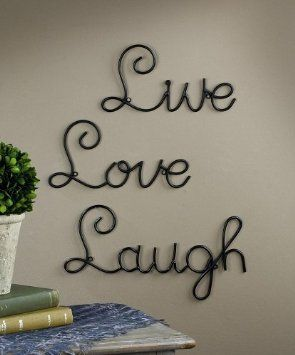 Live Love Laugh Set 3 Wall Mount Metal Wall Word Sculpture, Wall Decor On  Wanelo