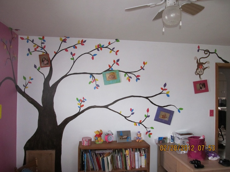 Tree Picture Mural....kids activity room