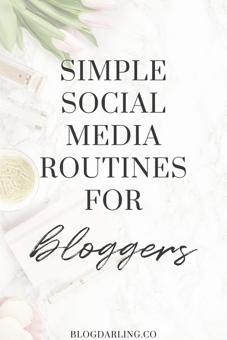 Feeling overwhelmed or unproductive on social media? Follow these easy social media routines for bloggers to save time and grow your blog!