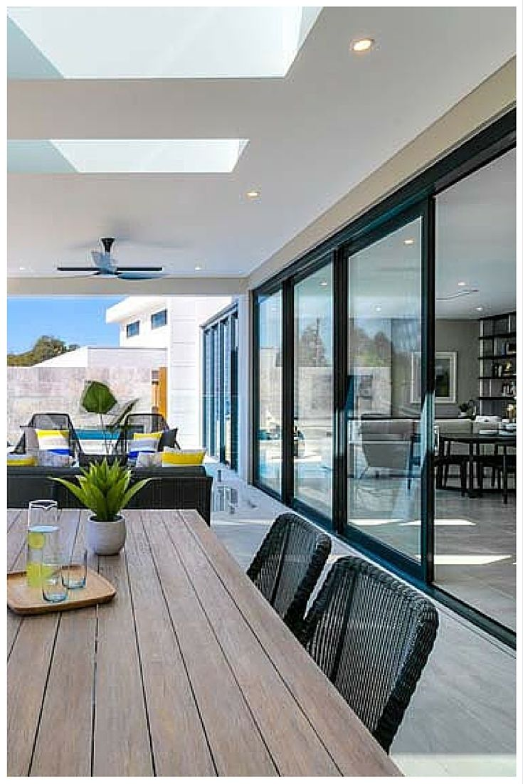 Entertaining is a dream with a Wideline stacking door sliding away neatly to create open free flowing spaces. .wideline.com.au | Pinterest | Folding ... & Entertaining is a dream with a Wideline stacking door sliding ... pezcame.com