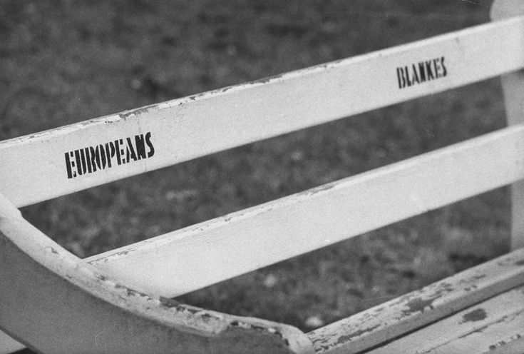 The racist signs South Africans had to look at every day for 40 years. 1960 - A bench in Albert Park, Durban.