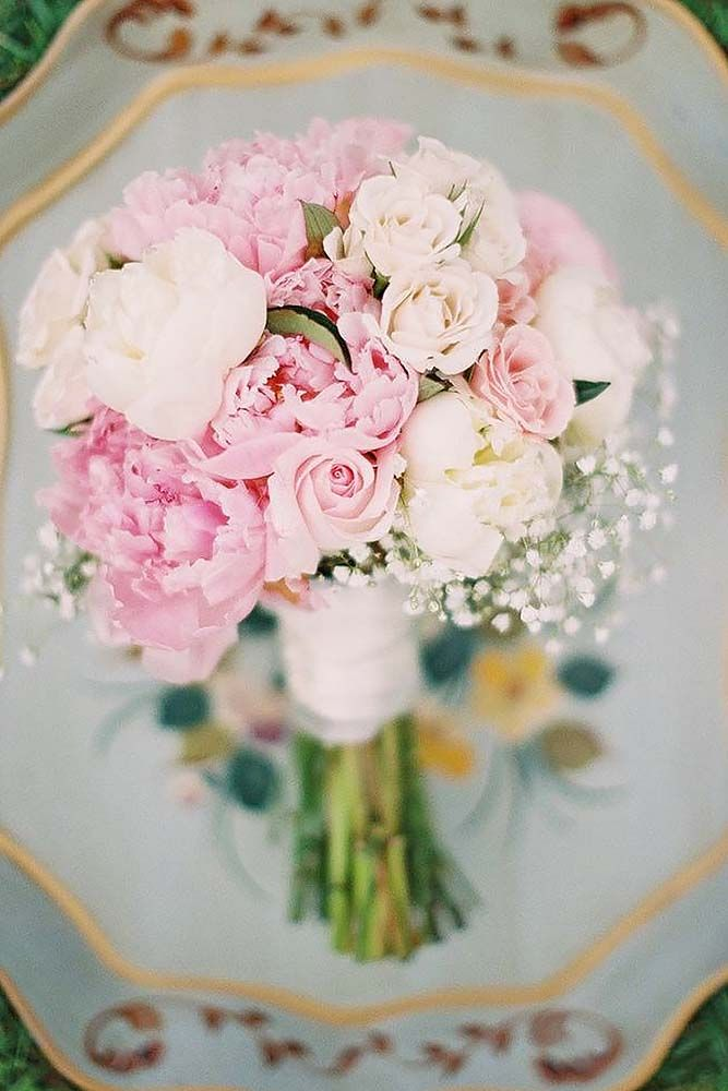 18 pink wedding bouquets to fall in love with 6