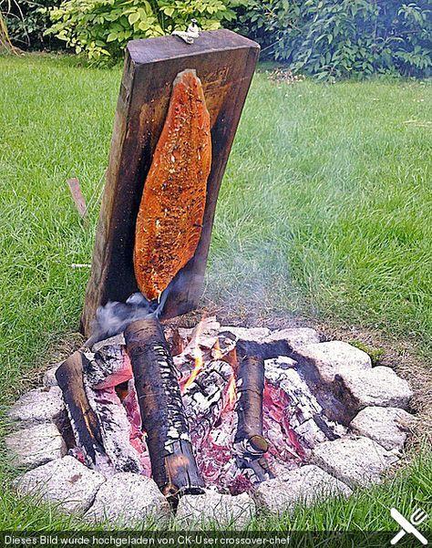 Würziger Flammlachs vom Feuer