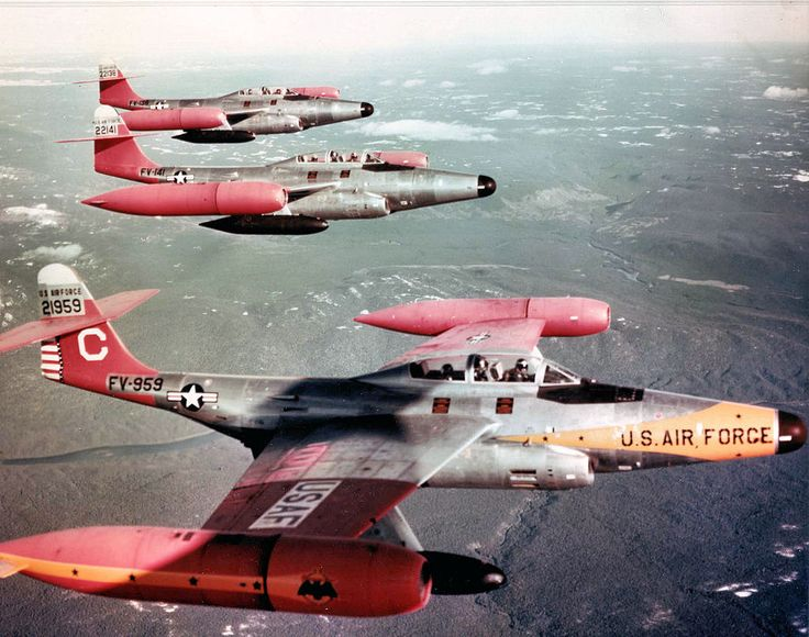 Northrop F-89D-45-NO Scorpion interceptors of the 59th Fighter Interceptor Squadron