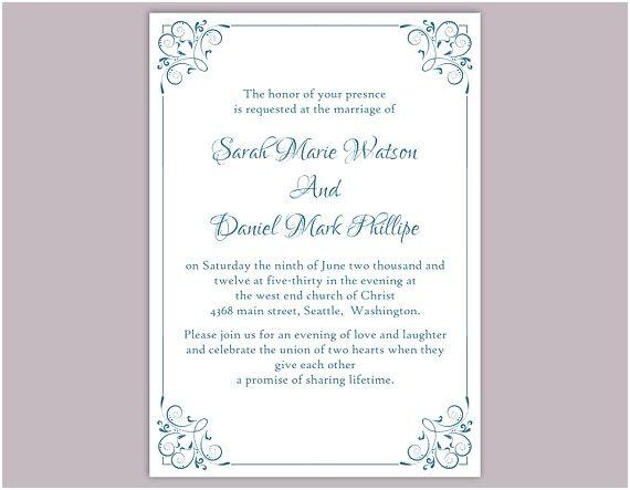 Modele Carte Invitation Mariage Gratuit Word Dans Document Line
