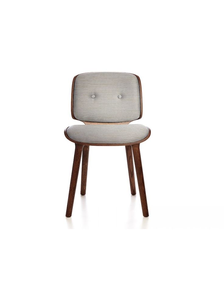 Moooi Nut design stoel stof hout Marcel Wanders