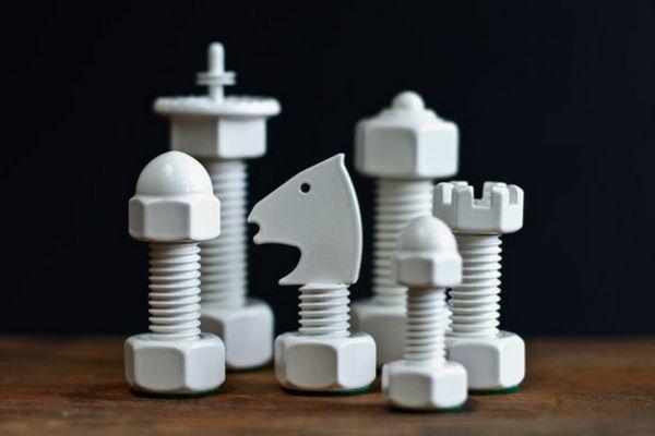 Tool Chess: шахматы ручной работы из металлических гаек и болтов. (6 фото)