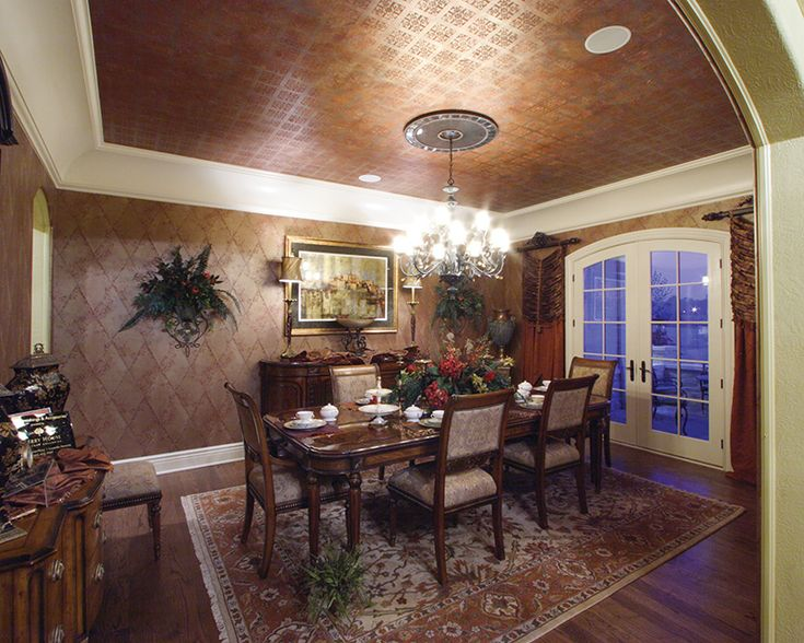 European House Plan Dining Room Photo 01 For Home Plan Also Known As The  Cadazan Luxury Home From House Plans And More.
