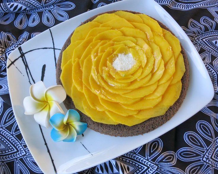Crostata morbida al cocco e mango