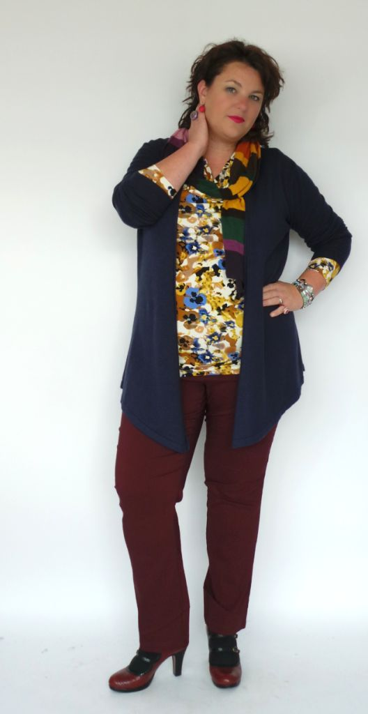 signia grote maten blauw vest Soy chicks&candy #wondervol #grotematenmode #plussize