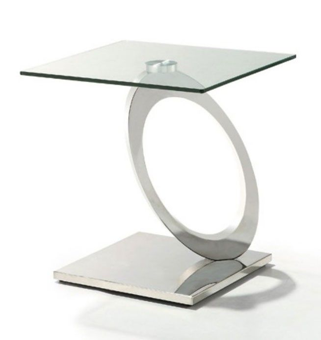 Perfect Decorative Innovative Elegance Accent Tables | Modern Glass And Chrome End  Table Bari