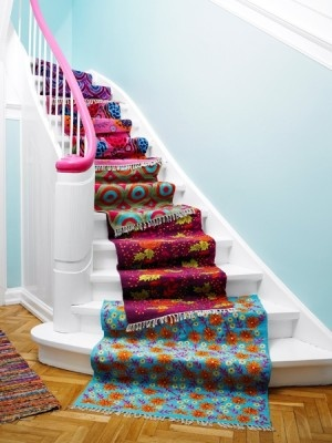 rugsDecor, Ideas, Painting Stairs, Stairs Runners, Carpets, Floors Mats, Home Stairs, House, Rugs
