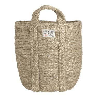 Lumley Laundry Basket from Aubin & Wills - can be used for organization around the house. texture and simplicity is key.
