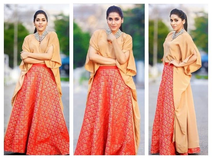 Rashmi Gautam Photos In Orange Ghagra Choli