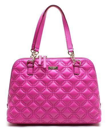 Don't have a pink purse...  cute!     Baja Rose Astor Court Leather Shoulder Bag