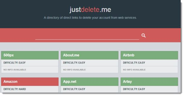 How to delete your Web accounts with JustDelete.me Some Web sites make it difficult to figure out how to delete your accounts. JustDelete.me can save you time by providing direct links to the cancellation pages of numerous Internet sites. #HowTo