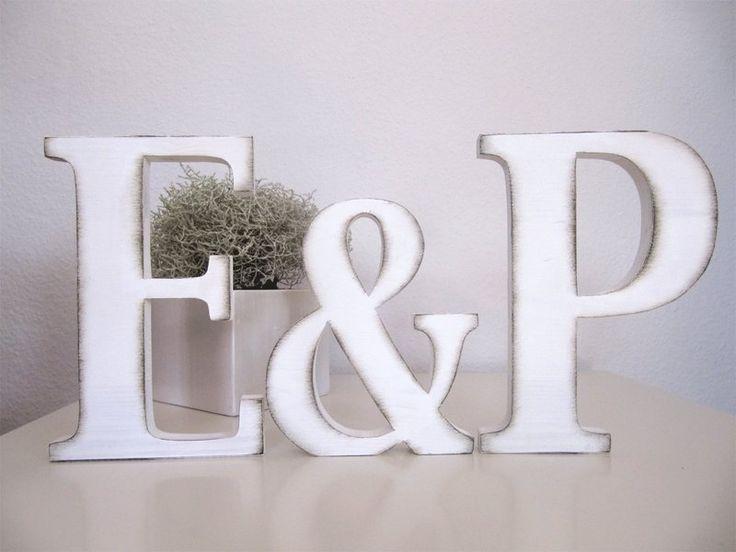 Hochzeits-Holzbuchstaben von Kreativwerkstatt Nicola Dittrich auf DaWanda.com