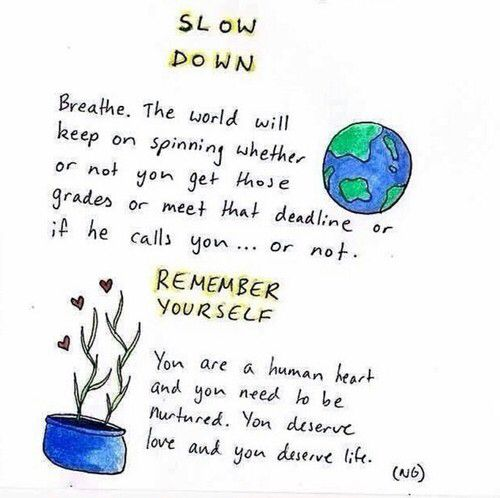 ⇢✷ slow down, remember yourself ✷⇠
