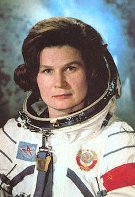 Valentina Tereshkova, the first woman in space (1963). Also, first woman on an individual mission in space and - quite important! - first civilian cosmonaut. Now she is 77 and planning to go back on the orbit.