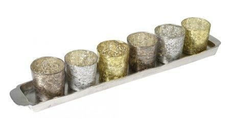 Eigen Interiors - Parlane Metallic Tealight Holders on Tray, £44.95 (http://www.eigeninteriors.co.uk/parlane-metallic-tealight-holders-on-tray/)