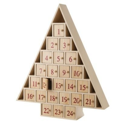 Wood Tree Shape Advent Calendar - contemporary - holiday decorations - Target