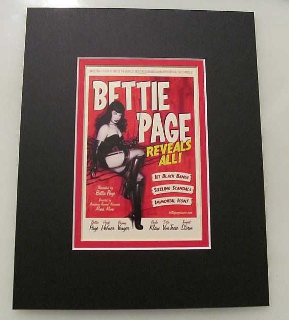Bettie Page Reveals All Custom Double Matted 8x10 Lobby Promo Card