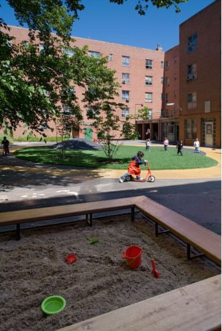 Immaculate Conception School Playscape, Katie Winter, New York City, 1997 - Playscapes