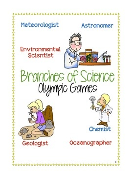 branches of science olympic games assorted science expts activities science worksheets. Black Bedroom Furniture Sets. Home Design Ideas