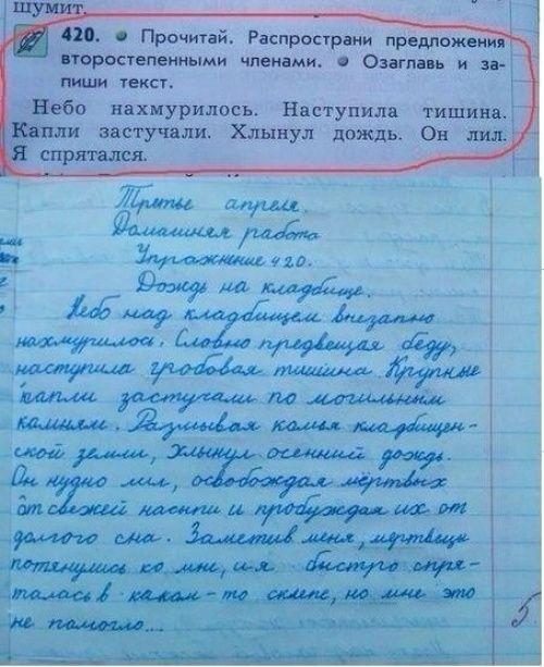 Такое могут написать только дети!