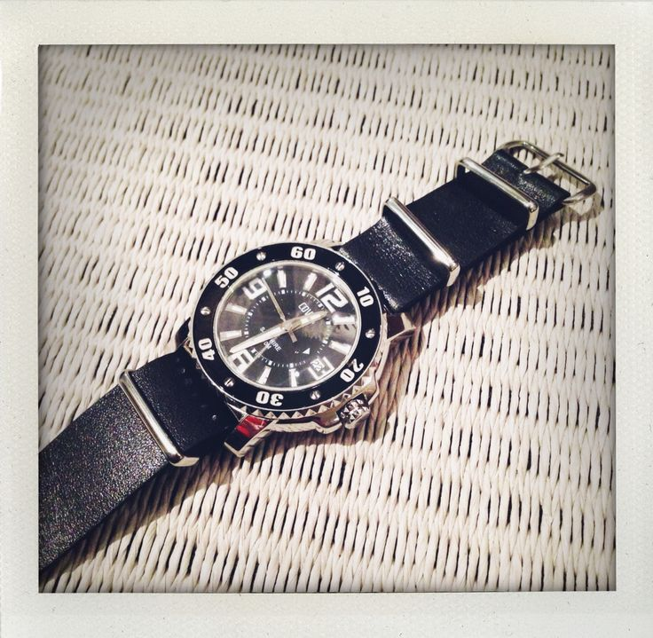 Leather NATO strap for watch