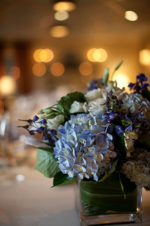 hydrangea centerpieces | Blue Hydrangea Centerpiece 275x412 Virginia 10 Year Wedding ...