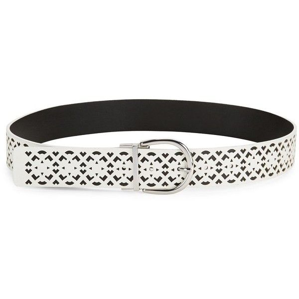 Steve Madden Reversible Faux Leather Belt ($38) ❤ liked on Polyvore featuring accessories, belts, white black, steve madden, vegan belt, black and white belt, faux leather belt and steve madden belts