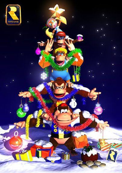 Look at donkey bitch ass being all kewt with his fam from donkey kong 64
