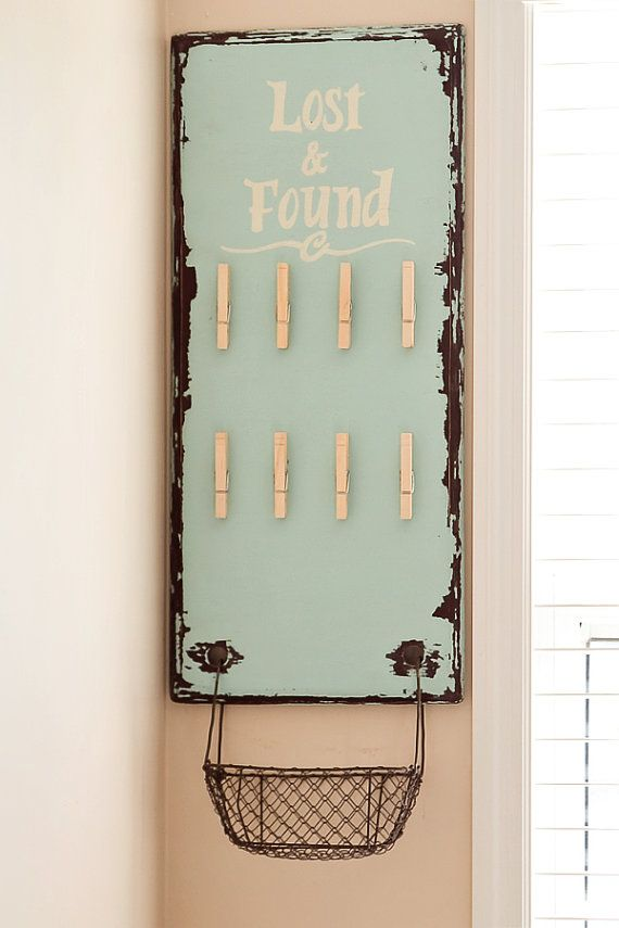 Cute Lost & Found Board Sign Laundry Decor Organization for Lost Socks