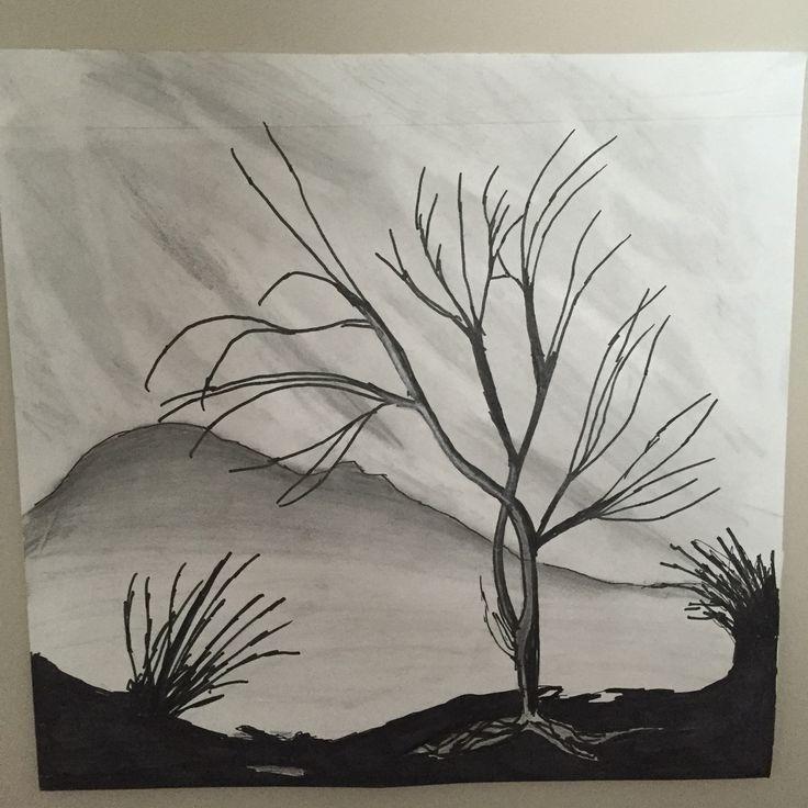 Dark single tree