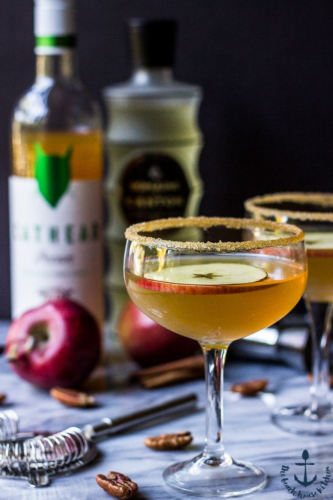 The warm fall flavors of this Nutty Apple Martini make this the PERFECT fall cocktail! Cheers!