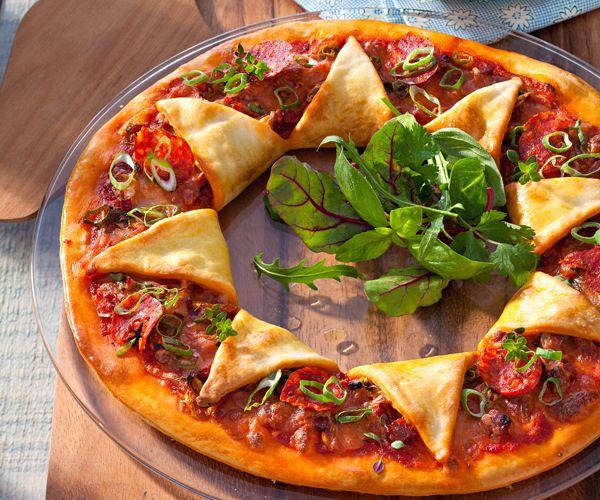 #Pizza #soleil au #chorizo
