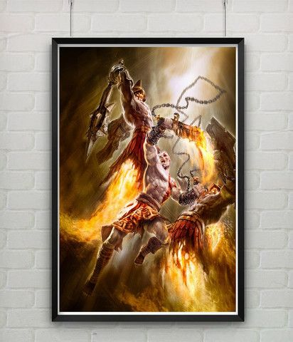 God Of War Kratos Combo Home Decor Game Poster Print