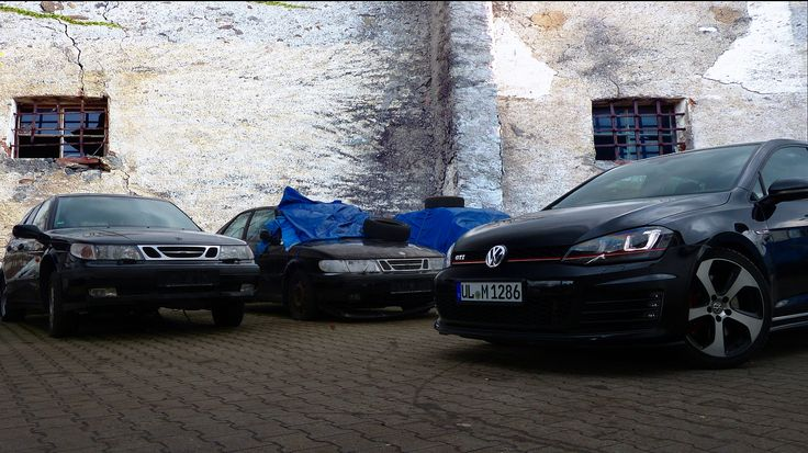VW Golf VII GTI on a Saab scrap yard