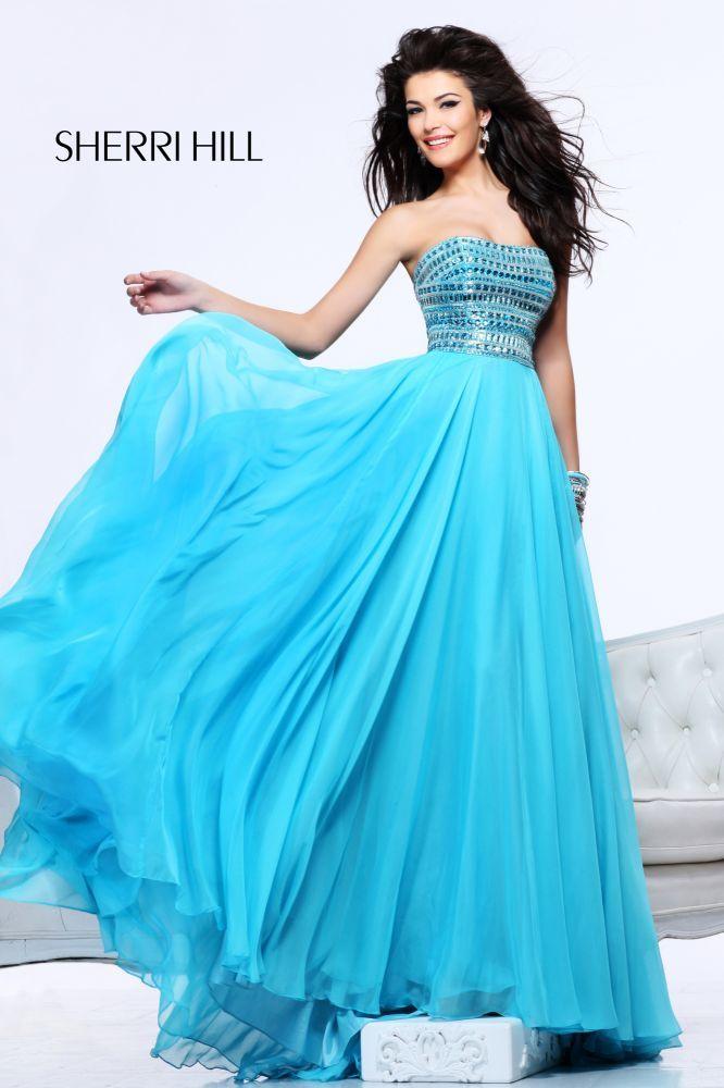 2013 Sherri Hill 1539 Aqua Strapless Long Dresses - $188.00 : 2014 Prom Dresses Online Sale,Cheap Sherri Hill Dresses