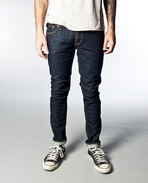 Tight Long John Organic Twill Rinsed - Nudie Jeans Co Online Shop