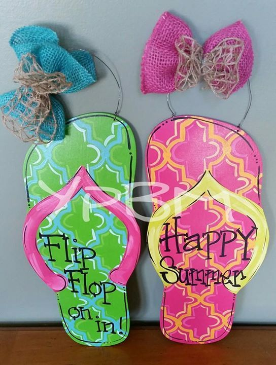 17 Best Images About Painting Flip Flops On Pinterest Summer July 4th And Summer Door