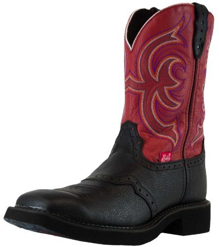 Justin Western Boots for Women | Gypsy Black Deercow Western Boot for Ladies