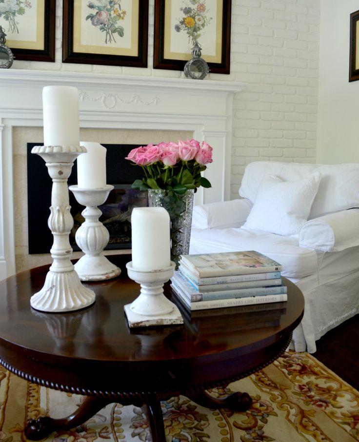 living room arrangements%0A Shabby Chic Beach Cottage Tour