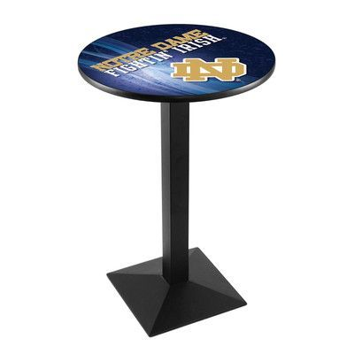 """Holland Bar Stool Pub Table Tabletop Size: 36"""" H x 36"""" W x 36"""" D, NCAA Team: Notre Dame (ND)"""