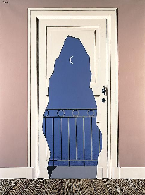 René Magritte (Belgian, 1898-1967), L'acte de foie, 1960. Oil on canvas, 129.8 x 97 cm.