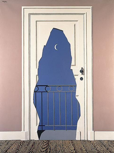 René Magritte (Belgian, 1898-1967), L'acte de foie, 1960. Oil on canvas,129.8 x 97cm.
