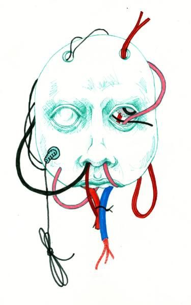 "Saatchi Art Artist TRIANTAFYLIA VASSOU; Drawing, ""Porcelain Mask"" #art"