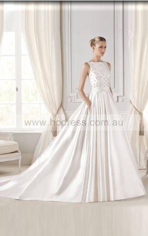 Princess Sleeveless Jewel Zipper Wedding Dresses fvbf1025--Hodress
