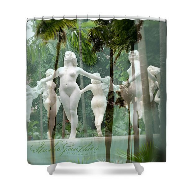 Teal Shower curtain | tropical shower curtain - teal bathroom decor, erotica #originalart #Tropical